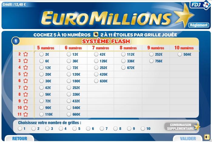 Comment joueur l 39 euromillions sur internet - Tarif grille euromillion ...