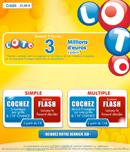 comment jouer au loto sur internet